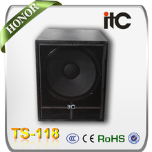 "EL CCI TS-118 400 Watt 8 ohm Bass Boom 18 ""Disco Altavoces Subwoofer Caja de China"