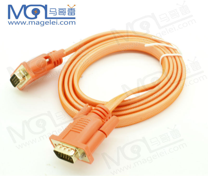 High Speed 3M VGA Cable 15P 3+6 Male To Male Sexi Vedio VGA Port with fully shielded