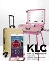 cosmetic case with lights aluminum trolley make up case with lights led Bluetooth music touch screen