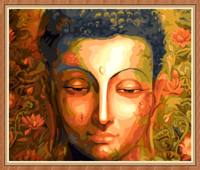 GX7995 buddha diy canvas oil number painting