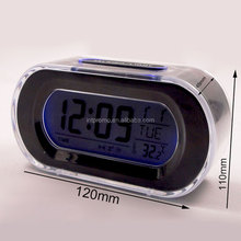 desktop nenon color digital LCD clock with calendar and themometer
