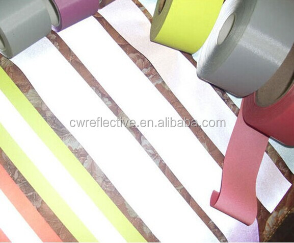 colored sew on retro reflective nylon fabric for clothing