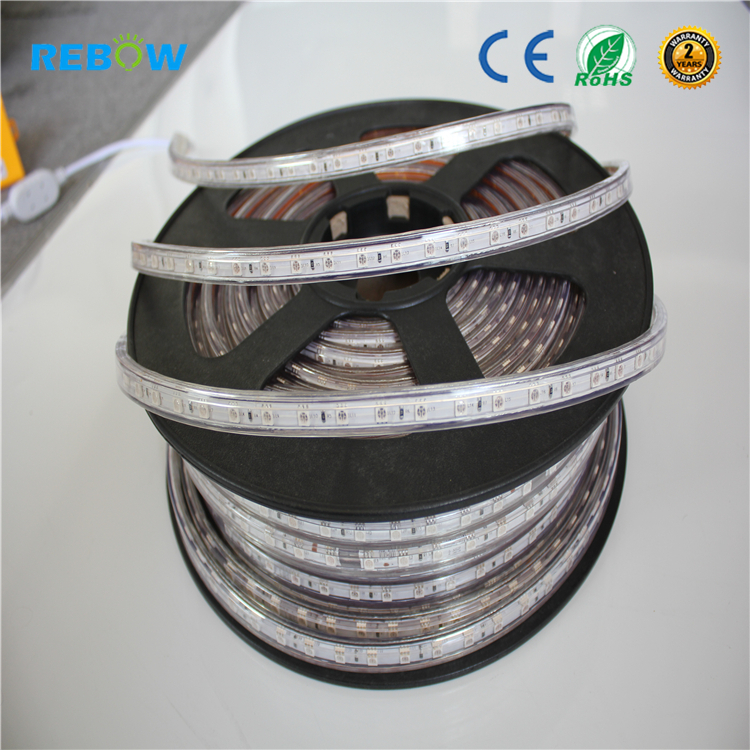 AC110V 120V 220V 230V 240V <strong>RGB</strong> SMD5050 led strip lights indoor outdoor light led strip