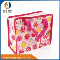 eco friendly laminated pp woven decorative custom ziplock bag