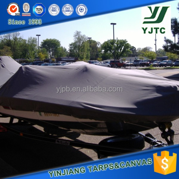 PVC tarpaulin canvas dust proof black fabric boat cover