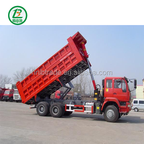 Heavy Duty Transport Truck Trailer Used 3 Axles Dump Tipper Semi Trailer For Sale