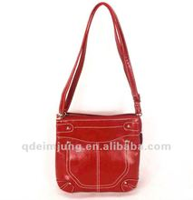 red PU functional purses