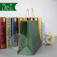 2018 Luxury Green Rope Handle Paper Bags Shopping Bag with Logo Printable