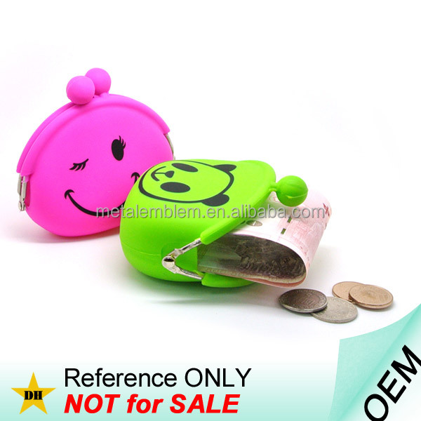 Promotional Custom Logo Printed Cheap Silicone Jelly Coin Purse