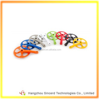 SCD-04-14 Colorful Crankset Single Speed 46T Racing Bicycle Crankset High Quality Aluminum Alloy Road Bicycle Driveline Crankset