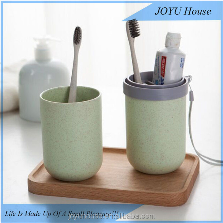 Xiamen JOYU Travel rinse cups portable toothbrush cup toothpaste storage box dual use travel cup