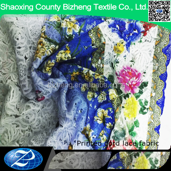 China wholesale suppliers chemical cord colored lace fabric 5 yards laces materials