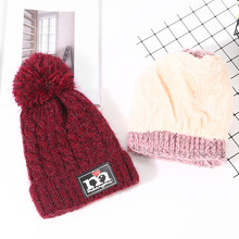 Factory wholesale winter youth knit wool hat thick warm ear protectio hat cap for girls