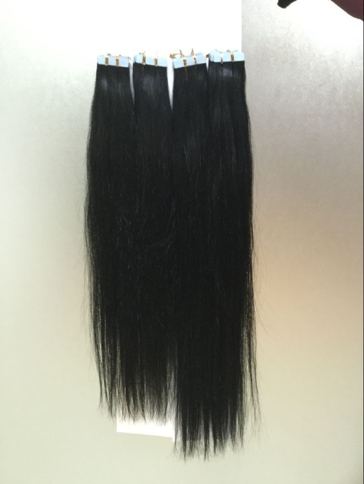 Grey Color Tape In Stock Virgin Cuticle Amazing Tape In Human Hair Extensions