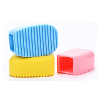 Food grade colorful silicone clothes washing brush for household
