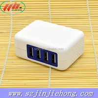 Portable 4 Port 5V4A USB Cell Phone Charger Wall Charger For Mobile Phone