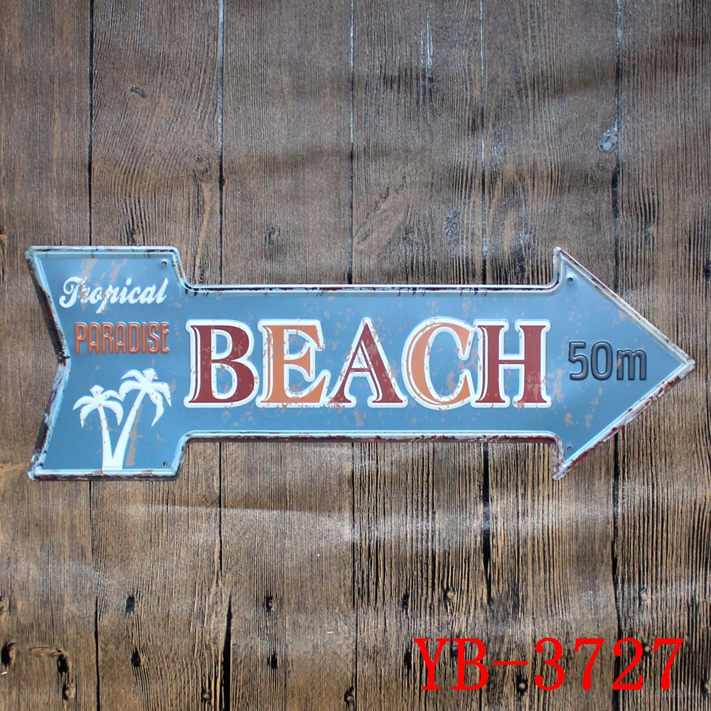 Garage Motel Route 66 Beer Exit Gas Oil Beach Lounge Retro Arrow Metal Tin Signs embossed vintage metal plate