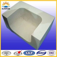 Glass fusing furnace refractory chemical properties of the brick