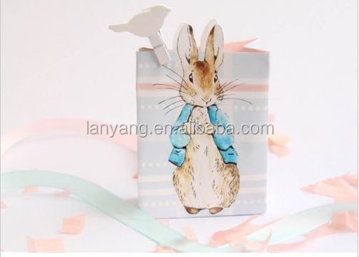 14x Cute Peter Rabbit Pastel Birthday Baby Shower Party Favour Loot Gift Bag