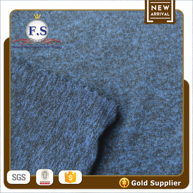 94/6 Poly Spandex mixed color jersey weft knit