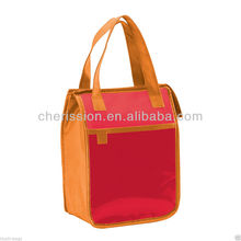 New Color Block Zipper Foiled Lunch Bag for kids School Beach Picnic Traveling
