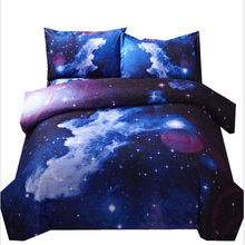 Comforter African American Style Top Sale King Size 3D Galaxy Polyester Bedding Set With Flat sheet And Quilt Cover