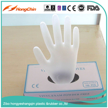 High quality powder-free food grade medical grade disposable vinyl gloves