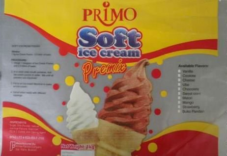 Primo Soft Serve Ice Cream