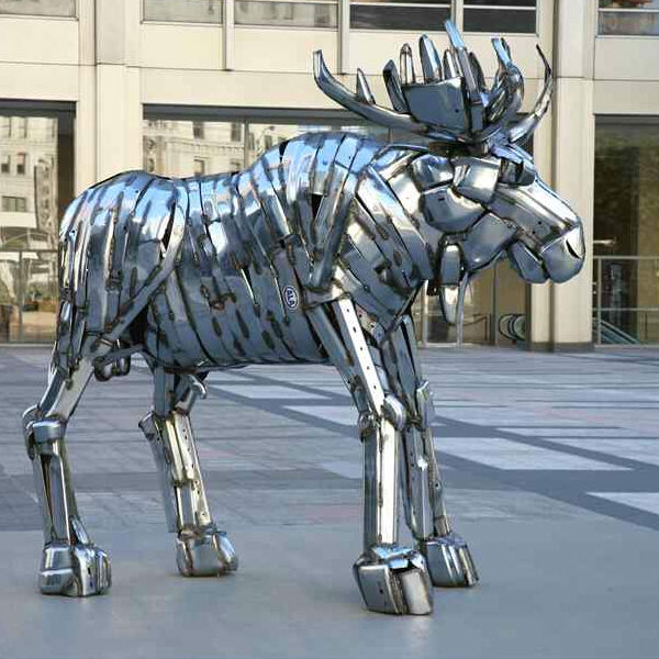 welding Metal moose sculpture