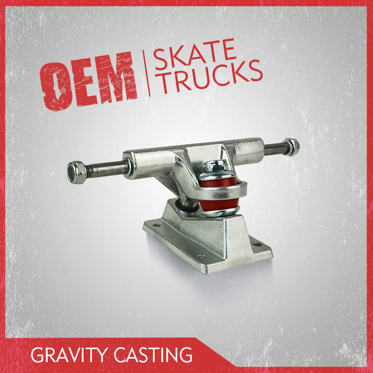 Gravity Casting Skateboard Trucks Suitable For Mini Cruiser In 4 inch Size
