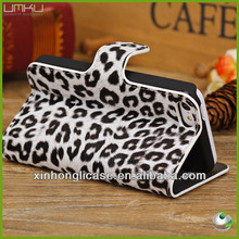 Leopard hot selling wallet case for iphone 5c,wallet phone case