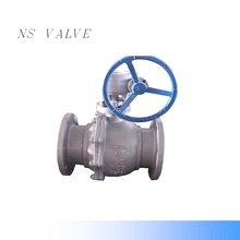 carbon steel 90 degree ball valve with gearbox class 150