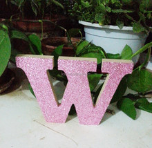 MDF customized printing wooden home decoration alphabet letters