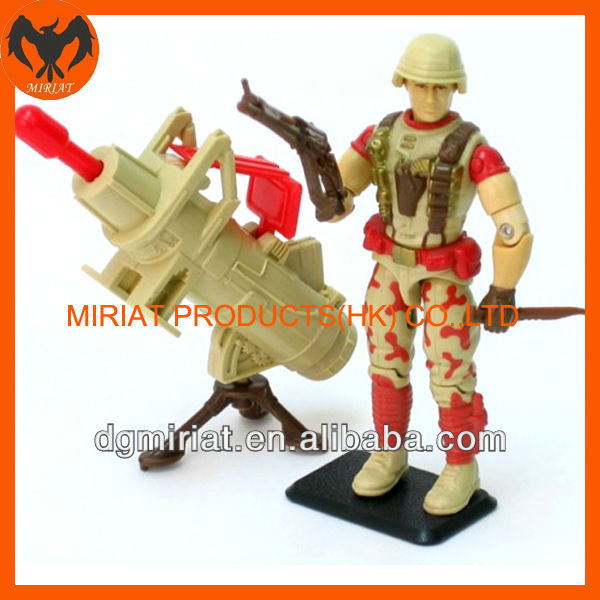 war soldier with cannon OEM action figure movable toy