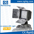 NanGuang CN-70 On camera LED video light with barndoors for photo and video