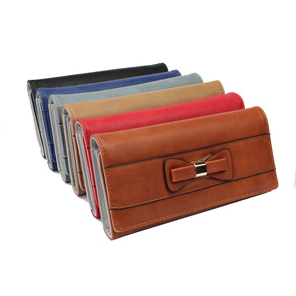 yiwu bag factory pu leather ladies 12slots card holder coin trifold wallets leather woman TW-01PU