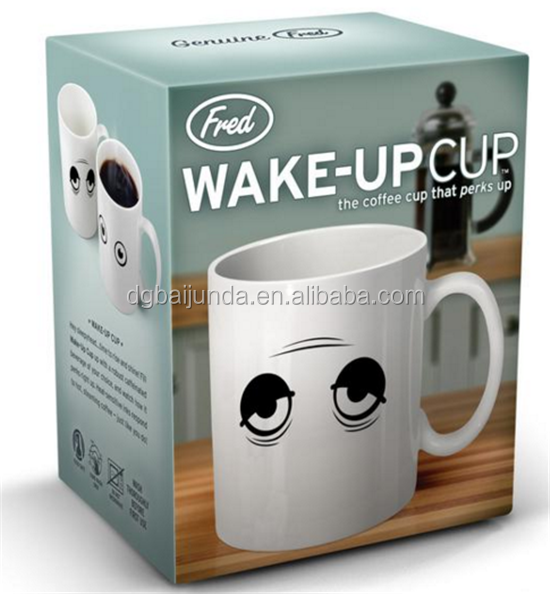Customized coffee mug box with window