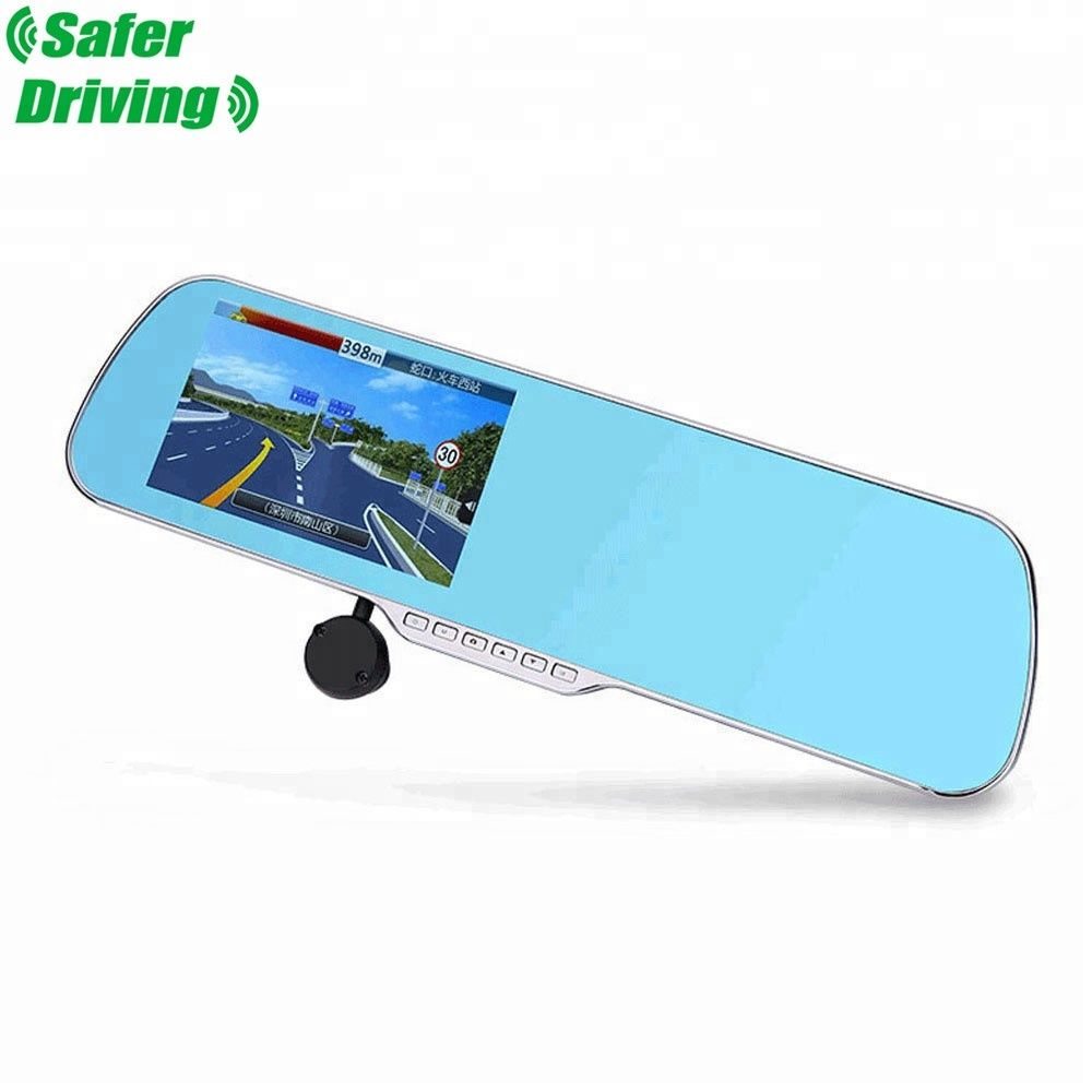 Saferdriving 5 inch hd car mirror cam dvr camera Navigation & GPS , Android 4.4 system vehicle blackbox dvr (XY-X5)