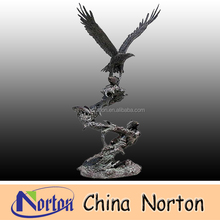 holding fish and flying Brass Eagle statue/sculpture NTBH-D046