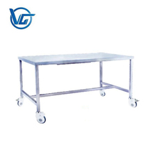 Medical work prep bench table with wheels