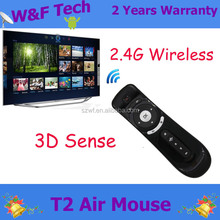 T2 Air Mouse 2.4G 3D Motion Stick Remote PC remote control Mouse Mice for TV box Smart TV