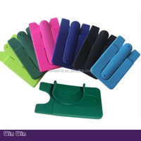 silicone Material and Any phones Compatible Brand Silicone Phone stand with Bank card pocket