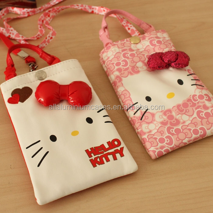 China wholesale hello kitty drawstring bag/phone bag