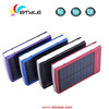 solar power gadget 13800mah real capacity solar power bank charger with dual usb led light