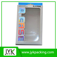 luxury custom clear pvc window plastic packaging box for cell phone case
