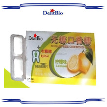 Promotional blister card herbal chewing gum xylitol chewing gum