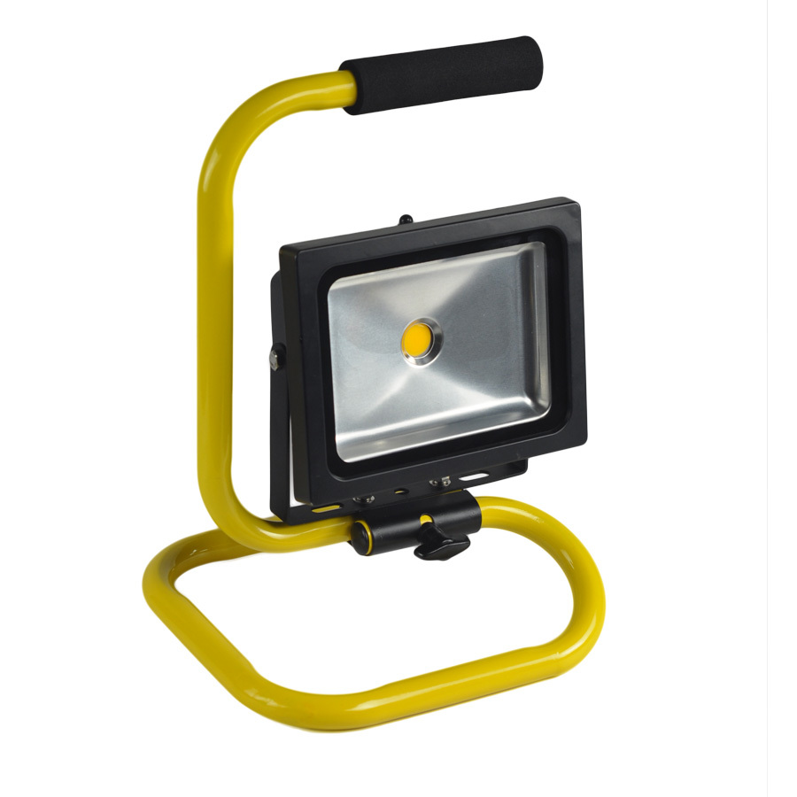 20W Rechargeable Portable LED Work Light, 100W Halogen Bulb Equivalent, 1400lm, Adapter and Car Charger Included, Waterproof, Ou
