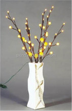 90cm tall Battery Operated Brown Spray Song Xing LED garland wedding light With Plastic Round Ball
