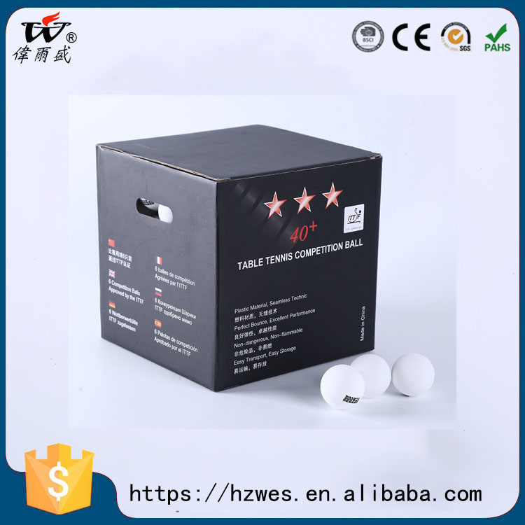 ITTF Approved 1 star table tennis ball, used in world competition, 40+professional pingpong ball nonflammable