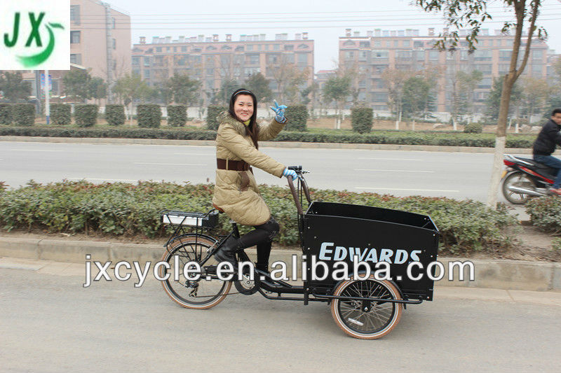 aluminum family electric+bicycle cargo trike